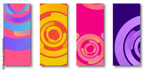Obraz na plátně Colorful backgrounds with bright circles pattern.
