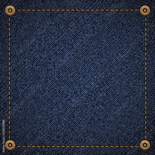 Canvas Print Background of blue denim fabric