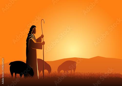 Jesus as a shepherd Fototapeta