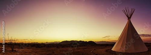 Fotografia Teepee Panorama