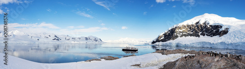 Photo Beautiful landscape and scenery in Antarctica