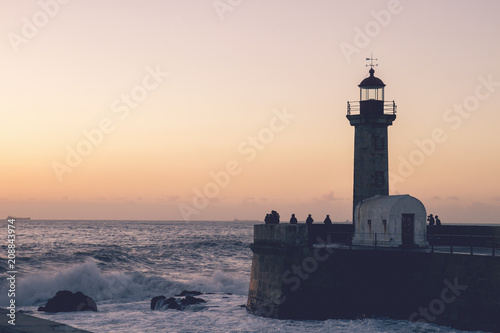 An old lighthouse in the portuguese atlantic coast