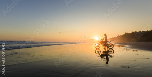 Young woman on BMX bike