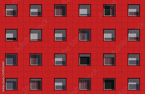 Valokuva façade - immeuble - façade d'immeuble - logement - appartement - HLM - urbanisme