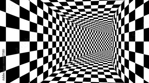 Fototapeta premium Optical Square Black and White Illusion