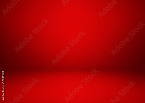 Empty red studio room, used as background for display your products Fototapet