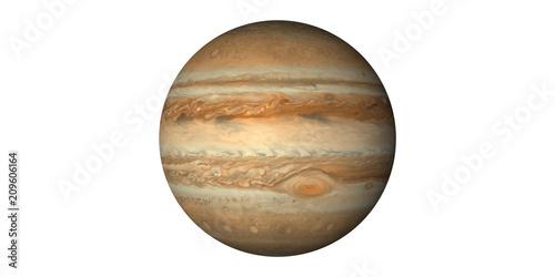 Obraz na plátně Planet jupiter in space white background