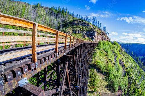 Photo Historic Trestle Bridge at Myra Canyon in Kelowna, Canada