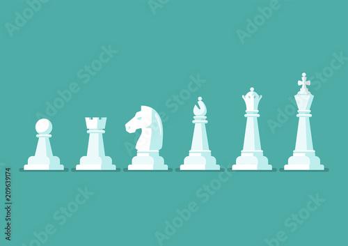 Fotografie, Tablou Chess piece vector icons set