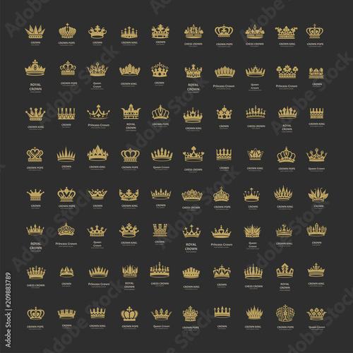 Fotografia King and queen crowns symbols
