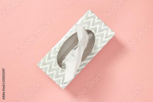 Tissue box on pastel pink background Fototapete