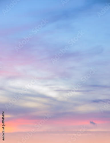 Fotografia, Obraz Abstract background of twilight sky background in soft focus