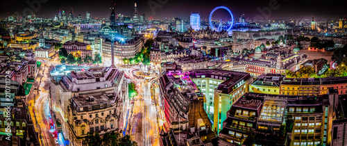 Canvas Print The London Skyline Panoramic