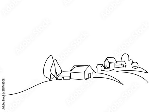 Fotografia Continuous line drawing