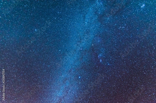 Stampa su Tela Milky way universe filled with stars, nebula and galaxy space dust long exposure