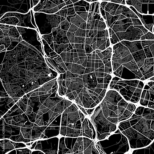Photo Area map of Madrid, Spain
