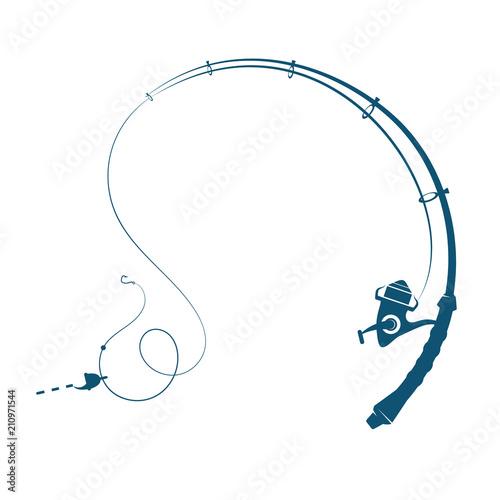 Foto Fishing rod silhouette