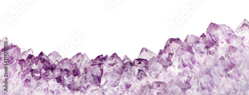 isolated lilac amethyst long crystal stripe