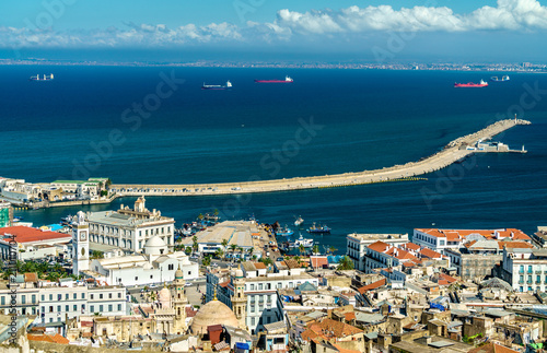 Aerial view of the city centre of Algiers in Algeria