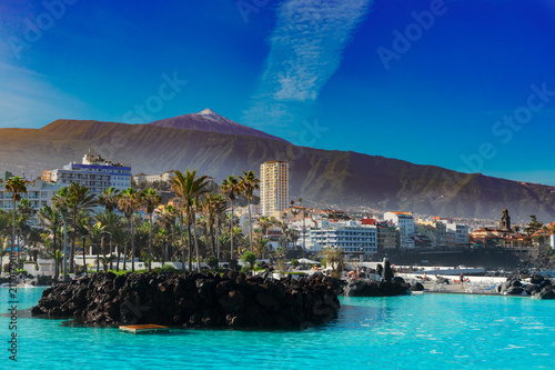 Canvas Print skyline of Puerto Cruz, Tenerife, Spain