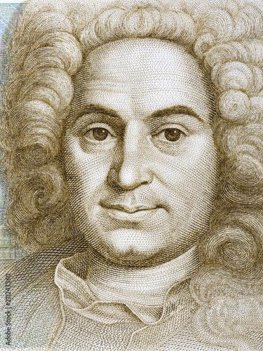 Balthasar Neumann portrait from Deutsche Mark Fototapeta