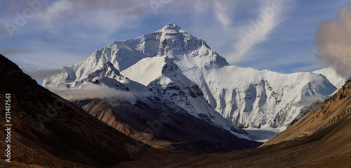 Photo Mount Everest as seen from Base Camp in Tibet