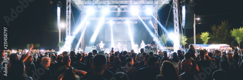 Crowd of people in a concert
