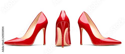 Fotografie, Obraz red high heel footwear fashion female style