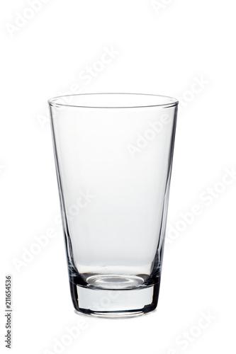 Empty glass on white