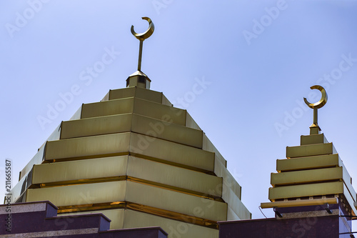 Mosque with Golden domes