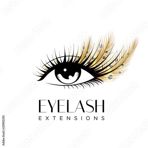 Stampa su Tela Eyelash extension logo