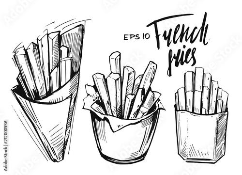 Fotografie, Tablou French fries sketch