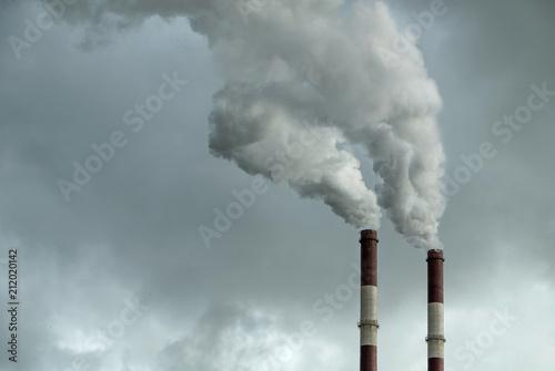 Foto Air polluting, factory pipe