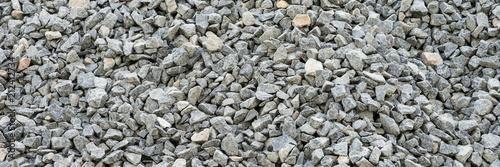 Gray gravel stones for the construction industry Fototapeta