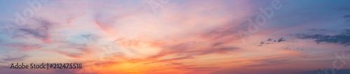 Fotografia, Obraz Colorful sunset twilight sky