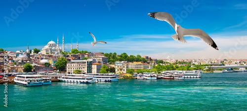 Fotografering Golden Horn Bay of Istanbul
