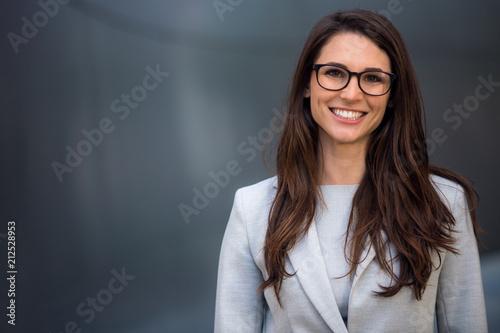 Slika na platnu Smart, intelligent, friendly, likable portrait of an executive business woman ma