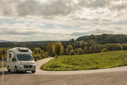 Tablou Canvas Siena to Lucca Campervan Travel Tuscany Tour Italy
