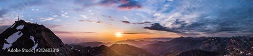 Fotografie, Tablou Panoramique 180° au Pic du Midi (Pyrénées)