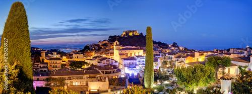 Valokuva Panorama of famous Begur late evening, near Barcelona and Girona, Costa Brava