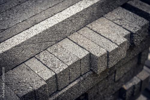 Cuadros en Lienzo Stack  of natural stone bricks