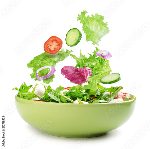 Canvas Print Fresh mixed vegetables salad in a bowl