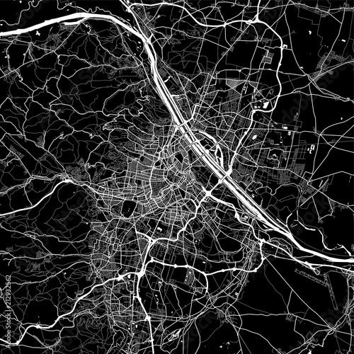 Canvas Print Area map of Vienna, Austria