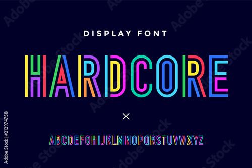 Obraz na płótnie Line condensed alphabet and font