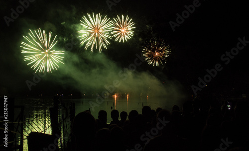 Stunning colorful fireworks in Brno #213047947