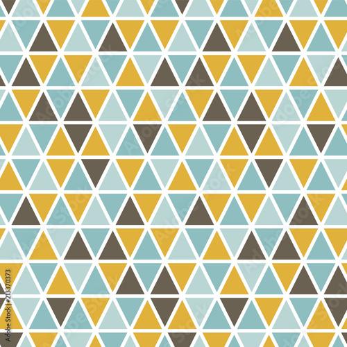 Fototapeta Seamless pattern with random triangles