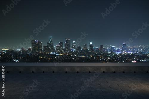 night panoramic city view
