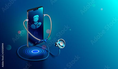 Fotografija Doctor online concept