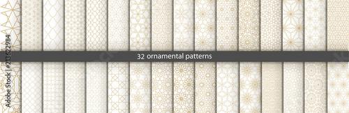 Super Big set of 32 oriental patterns Fototapeta