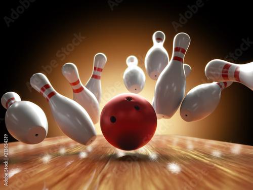 Obraz na plátně Bowling